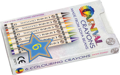 Carnival Colouring Crayons 6-Pack